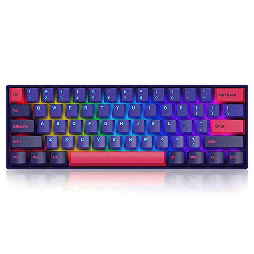 EPOMAKER AKKO NEON 3061 60% RGB Bluetooth 5.0 Wireless/Wired NKRO Mechanical Keyboard, Programmable with Double Shot PBT Keycaps (Gateron Yellow Switch, NEON)