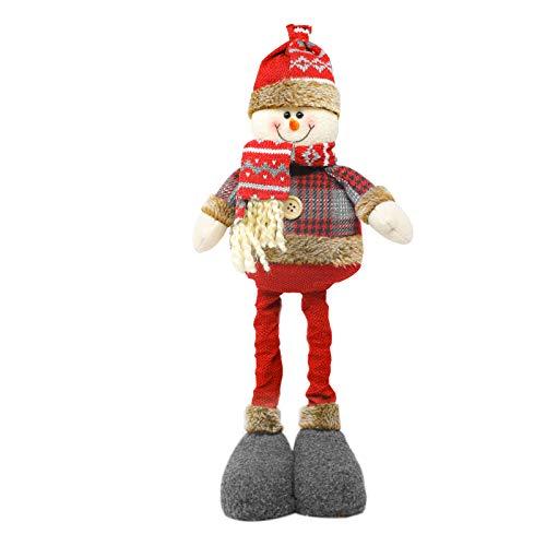 Myriad Choices Alce navideño muñeco de Nieve Adorno navideño gnomo de pie retráctil Patas largas Mesa Chimenea...