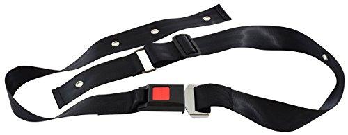 Secure SBNA-1 Quick Release Wheelchair Seat Belt Safety Harness, Black - Adjustable 42