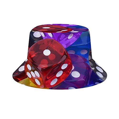 Yuanmeiju Cubo de Sombrero para el Sol Style Men Women Foldable Sombrero de Playa de Pescador Sun Protection Geometric Mandala