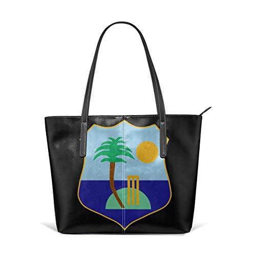 BAODANLA Bolsos de mano de mujer Women's Stylish Casual Tote Bag Canvas Travel Bags West Indies Cricket Board Flag Shoulder Bags
