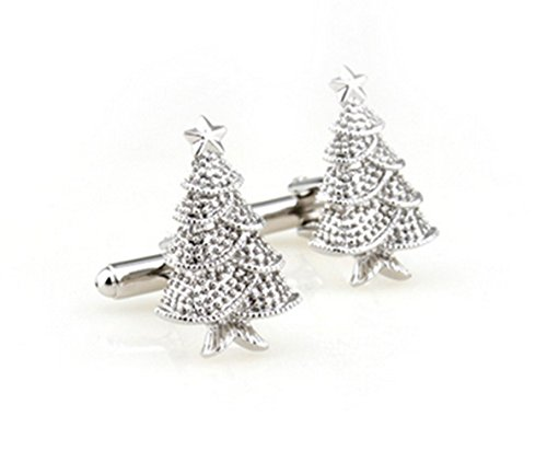 Gudeke Christmas Tree Shape Pure Copper Shirt Cufflinks Arbre de Noël Boutons de manchette