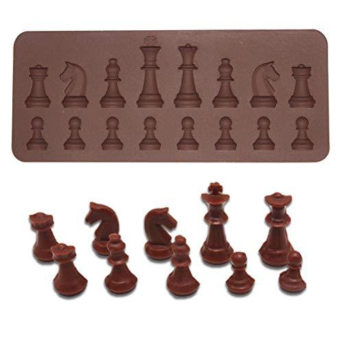 BESTonZON Lot de 16 moules en silicone creux pour chocolats, chocolats, puddings, gelées, mini cupcakes (café)