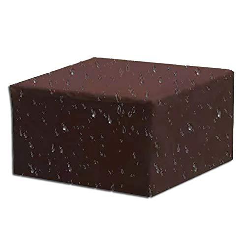 YNES Sofá al Aire Libre de la Cubierta, Cubierta Impermeable del sofá de la Silla del césped, Salón Sofá Muebles de terraza Cubierta (Color : Coffee Color, Size : 308×138×89cm)