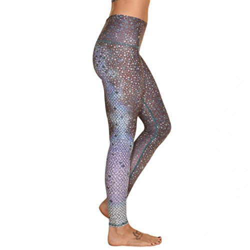 Teeki Mermaid Fairyqueen Teal Hot Pant Yoga Leggings (XS)