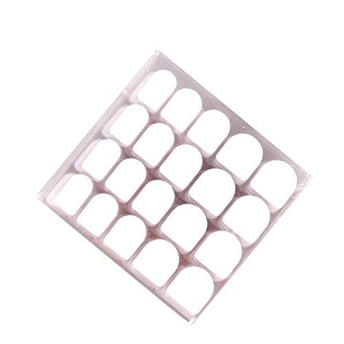 enForten 10 Pack Total 200pcs False Nail Art Patch False Nail Sticker for Manicure