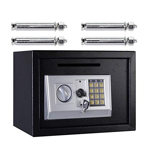 16L Digital Safe Box (Black) Large Capacity Safety Electronic Security...