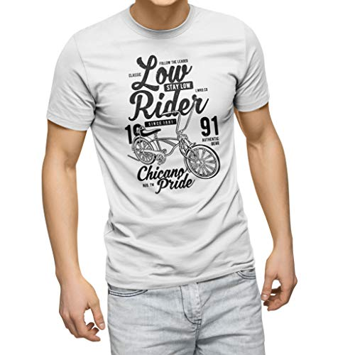 ZYDUVA Low Rider Bike Road White Men's T-Shirt Size L