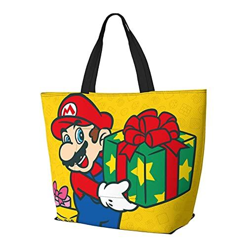 Videojuego Héroes Mario Navidad presente bolsa de hombro multifuncional gran capacidad bolso tableta bolsas de semana bolsa de viaje bolsa playa