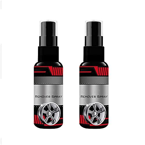 Aerosol removedor de óxido de coche de 2 piezas, limpiador de aerosol de mantenimiento de inhibidor de removedor de óxido de coche de 100 ml, spray de pulido de metal anti-óxido