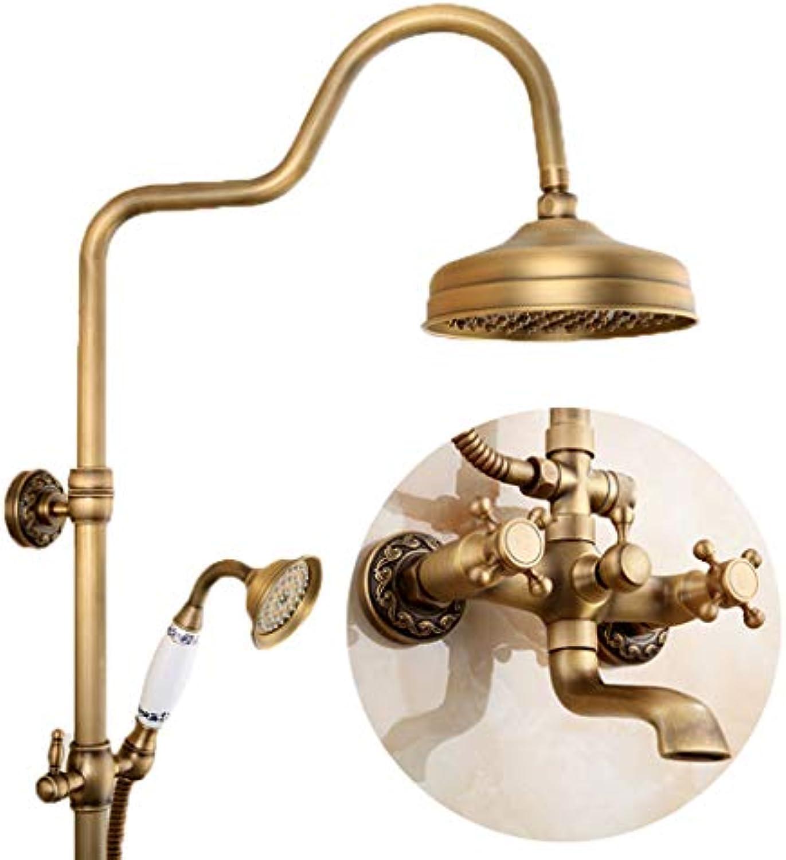 Runde Thermostat-Dusche, volle kupferne Dusche-Satz-Wand-Berg-Handbrause