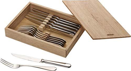 Villeroy & Boch Oscar Steakbesteck, 12-teiliges Edelstahl-Besteckset für bis zu 6 Personen, rostfrei und spülmaschinenfest, 28.5 x 20 x 5 cm