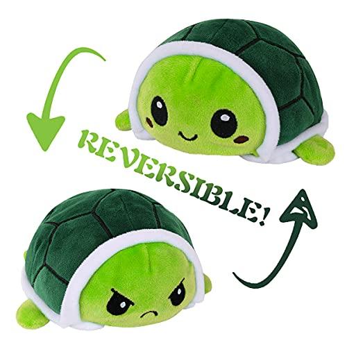 Peluche de tortuga de peluche para niños, regalo de doble cara, reversible