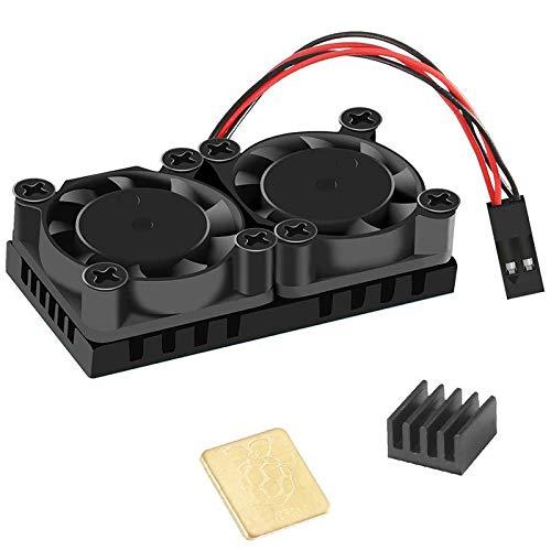 BOINN Ventilador Doble con Disipador de Calor Enfriador de Ventiladores de Enfriamiento Doble Definitivo para Raspberry Pi 4B