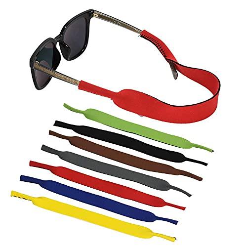Rainday - Correa para gafas de sol y gafas de sol (7 unidades, antideslizante, silicona, para gafas de sol y deportes ajustables)