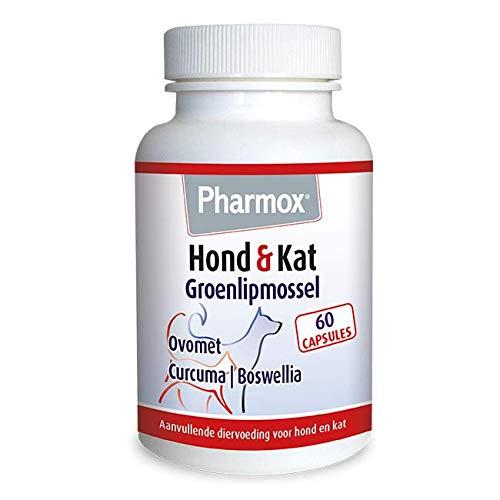 Pharmox Hond & Kat Groenlipmossel 60 capsules - Voor soepele gewrichten en sterke botten