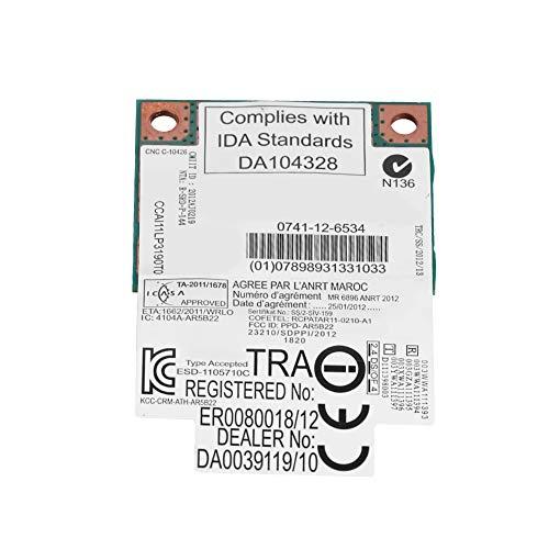 Tangxi Dual-Band WiFi Card,300Mbps Mini PCI-E Wireless Card,2.4G+5G Dual-Band Network Card Support Bluetooth 4.0 WiFi for PC/Laptop Mini PCI-E Slot