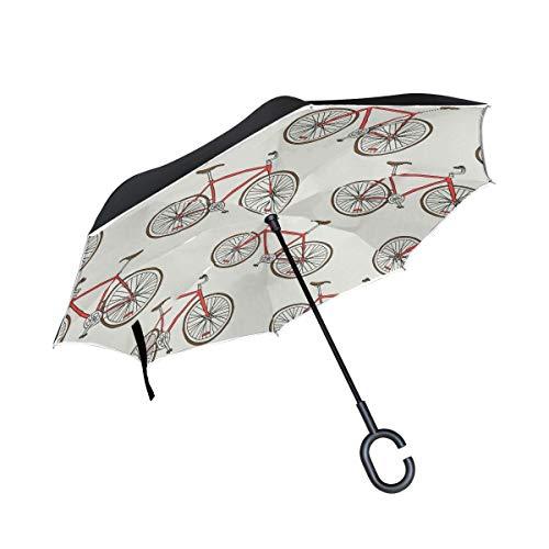 AOTISO Bicicleta de Paseo Bicicleta de Doble Capa Protección Anti UV Plegable...