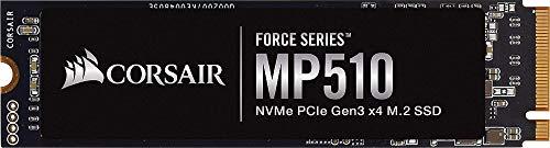 Corsair MP510, Force Series, 1920GB M.2 NVMe PCIe x4 Gen3 SSD (Lesegeschwindigkeitenvon bis zu 3.480 MB/s sowie sequenziellen Schreibgeschwindigkeiten bis 2.700 MB/s) Schwarz