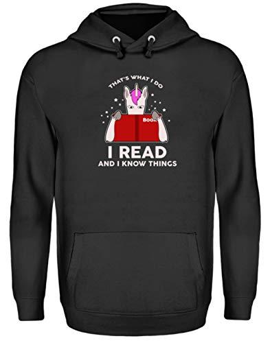 SPIRITSHIRTSHOP That's What I Do. Lezen en ik know Things. Books - Het is wat Ich Tue. Ik lees boeken. - Unisex capuchontrui met capuchon