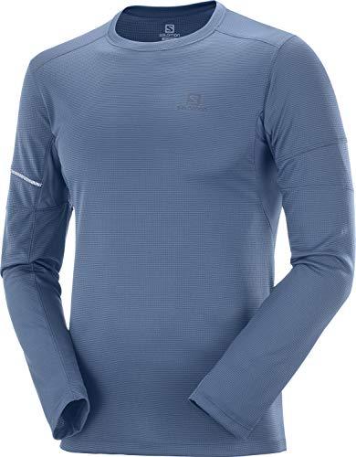 SALOMON Agile LS tee M Camiseta Deportiva de Manga Larga, Azul (Dark...