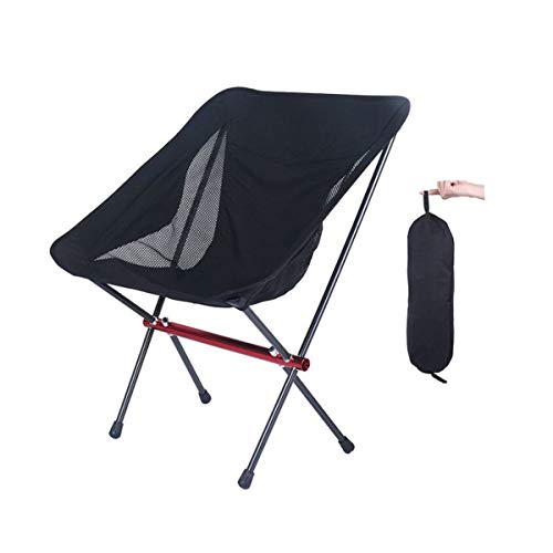 OutyFun Foldable Camping Chair, Ultralight Folding Heavy Duty 300lbs Backpacking Chair Collapsible Portable Packable Portable Chair for Outdoor Beach Picnic