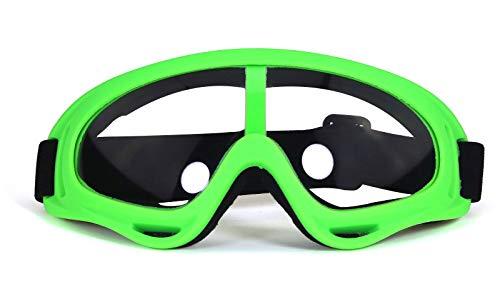 Transparente Linse Sportbrille Winddicht Staubdichte UV-Schutzbrille Klare Linse Ski Outdoor Radfahren Schutzbrille, Mehrfarben Rahmenoptionen,Grün