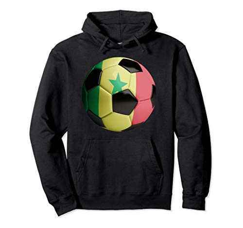 Senegal Fahne Fußball Pullover Hoodie