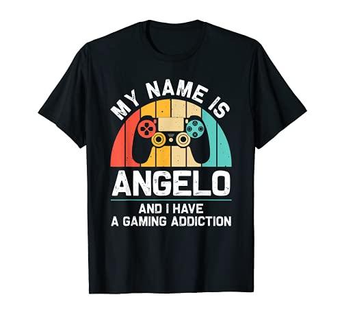 ANGELO Regalo Nombre Personalizado Funny Gaming Geek Cumpleaños Camiseta