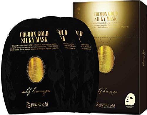 23years old Cocoon Gold Silky Mask, Hydrating and Moisturizing with Gold extract, 0.9 oz, 3 pack