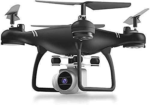 Drone con cámara para Adultos, Video en Vivo HD y GPS, cámara WiFi HD Video en Vivo GPS 6 Ejes Gyro RC Altitude Hold, Larga Distancia de Control, 9 Minutos de Vuelo de Largo Alcance, Negro