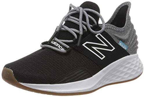 New Balance Women's Fresh Foam Roav V1 Sneaker, Black/Light Aluminum, 8