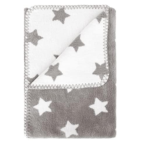kids&me® warme Babydecke OEKO-TEX zertifiziert - perfekt für Herbst und Winter 100% Bio-Baumwolle - kuschelige Baumwolldecke (kbA) - Winterdecke für Babys Made in Germany