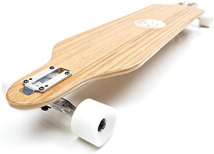 White Wave Bamboo Longboard Skateboard Complete