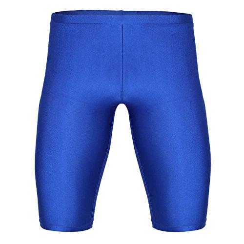 TiaoBug Herren Laufhose Sporthose Fitnesshose Trainingsshorts Männer Sports Tights Leggings Kurze Hose Pants mit Kompression und Quick-Dry Kompressionshose Funktionswäsche Blau XL(Taille 81-114cm)