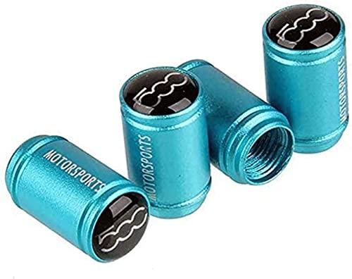 4 Piezas Neumáticos Tapas Válvulas para Fiat 500 500x, Antipolvo Tapones de Coche Decoración Accesorios