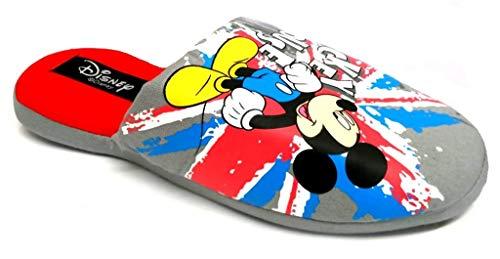de fonseca Disney Topolino Ciabatte Cotone Uomo MOD. OBELISCO Grigio (Numeric_42)