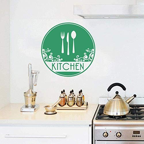 Home Decoration Wall Stickers Indoor Stickers Kitchen Fork Knife Spoon Food Tableware Blackboard Tableware Set Restaurant Stickers 57X57cm