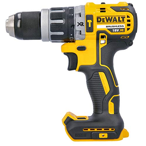 DEWALT DCD796N 18v XR Brushless Compact Combi Drill with 2 x 4.0Ah DCB182 Batteries & DCB115 Charger, 18 V