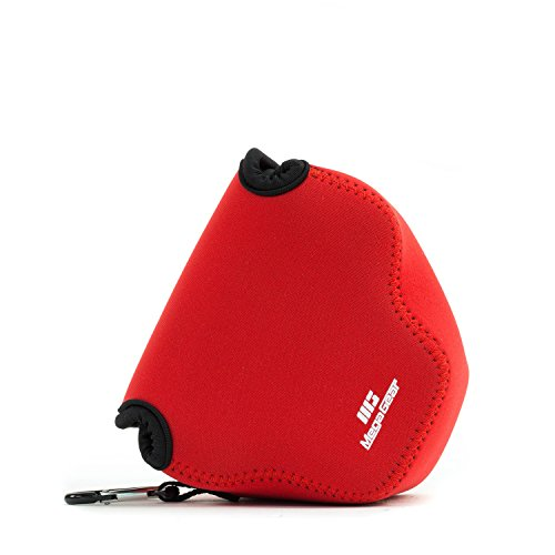 MegaGear Fotocamera Custodia Neoprene Borsa Per Canon PowerShot SX540 HS, SX530 HS, Canon PowerShot SX420 IS, SX410 IS (Rojo)