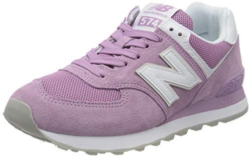 New Balance 574, Zapatillas Clásicas para Mujer, Morado (Canyon Violet with White), 38 EU