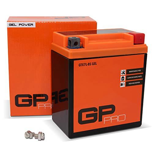 GP-PRO GTX7L-BS 12V 6Ah GEL Batteria di avviamento (simile a YTX7L-BS   50614) (Esente da manutenzione   Sigillato) Moto Scooter Accumulatore