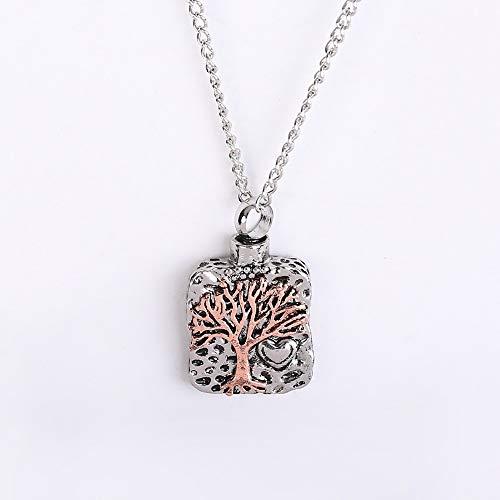 GWXQY creatieve retro levensboom kist, hanger ketting voor as sieraden Memorial Keepake, kan houden parfum etherische olie as