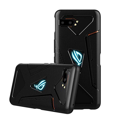 CRESEE ROG Phone 2 Hülle Hülle, Schutzhülle Soft Silikon Cover Bumper Stoßfest Handyhülle Fall für ASUS ROG Phone II (ZS660KL) 2019 Gaming Phone (Schwarz)