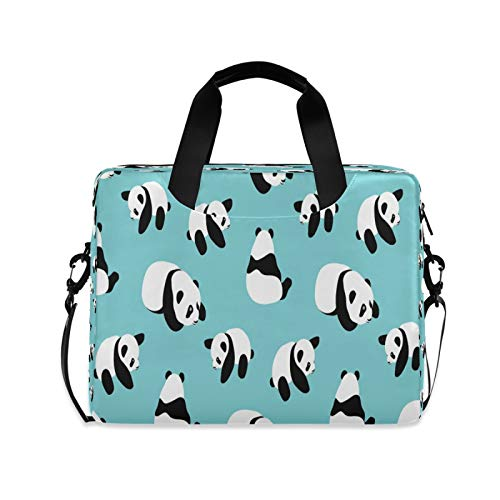 Laptop Case 15.6 inch with Handle Panda Laptop Bag Computer Cases Multi-functional Notebook Sleeve, Carrying Case with Strap