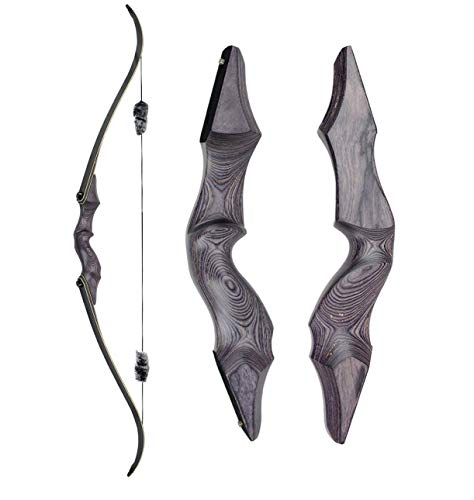 Obert Archery Takedown Recurve Bow 58inch Traditional Hunting Bows with Bamboo Core Limbs Target Shooting Practice for Right Hand (30)