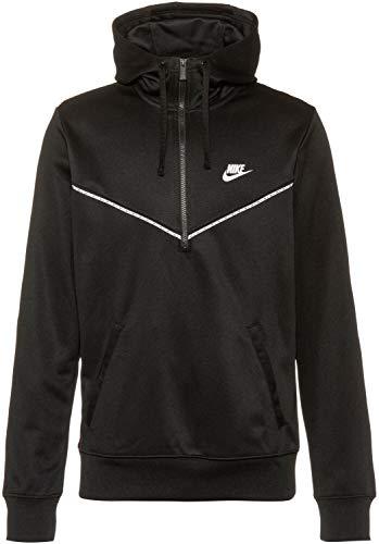 Nike DD3773-010 M NSW Repeat PK HZ Hoodie Sweat Mens Black/Black/(White) M