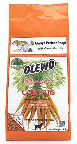 Olewo Dehydrated Carrots Digestive Dog Food Topper...