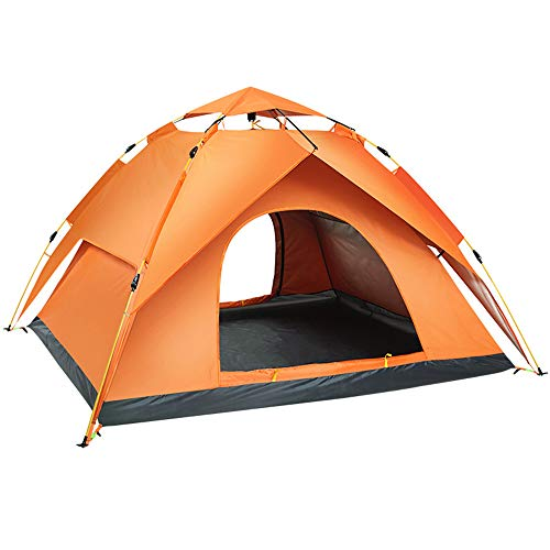 IYSI Pop Up Zelt, Zelt Wasserdicht, Tragbares Strand Zelt, Pop Up Zelte Familienzelt Riesiges Camping Zelt Doppelwandig Wurfzelt Shelter Zelt Für Outdoor Sport Picknick Wandern Reisen,Gelb,Double