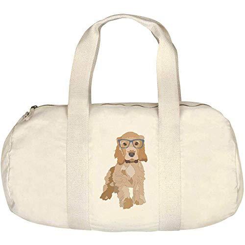 Azeeda 'Spaniel Puppy' Canvas Duffle / Gym Bag (DF00014922)